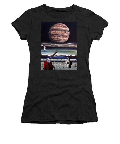 The Eternal Staring Contest Women's T-Shirt (Junior Cut) by Ryan Demaree