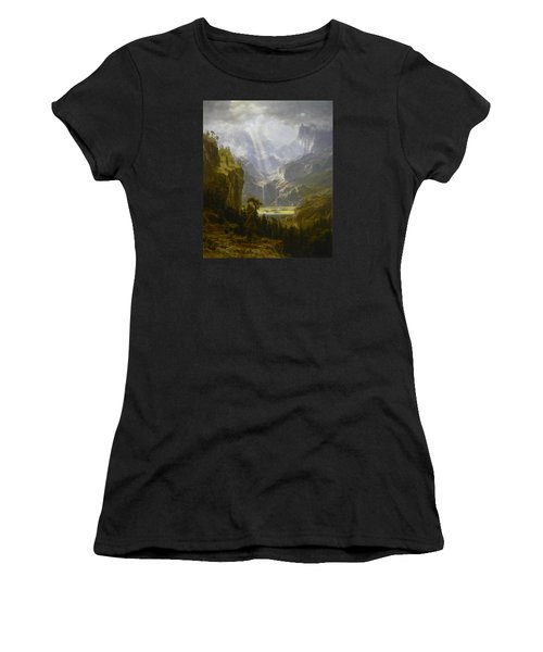 The Rocky Mountains Lander's Peak Women's T-Shirt (Junior Cut) by Celestial Images