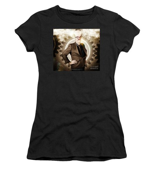 Thinking Businessman With Big Brain Women's T-Shirt
