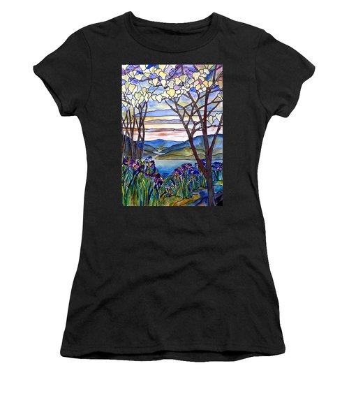 Stained Glass Tiffany Frank Memorial Window Women's T-Shirt (Athletic Fit)