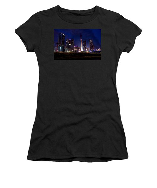 Toronto By Night Women's T-Shirt (Athletic Fit)