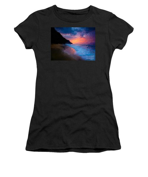 Women's T-Shirt (Junior Cut) featuring the digital art Tropical Paradise by Anthony Fishburne
