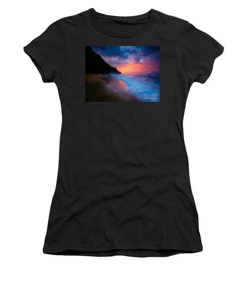 Tropical Paradise Women's T-Shirt (Junior Cut) by Anthony Fishburne