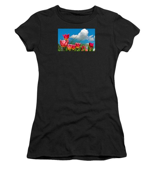 Flower 8 Women's T-Shirt (Athletic Fit)