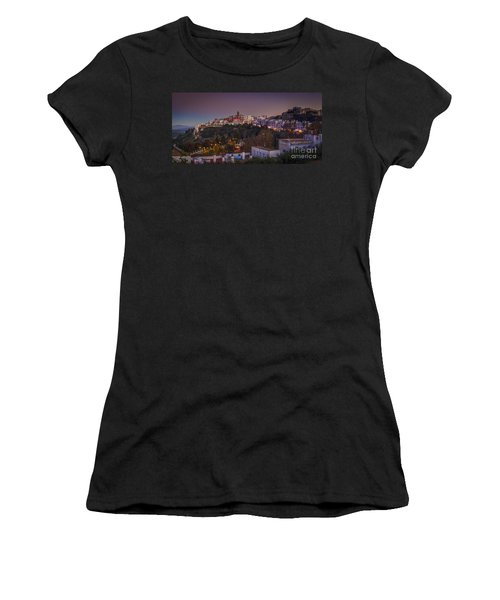 Vejer De La Frontera Panorama Cadiz Spain Women's T-Shirt (Junior Cut) by Pablo Avanzini