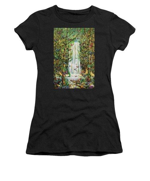 Waterfall Of Prosperity II Women's T-Shirt (Athletic Fit)