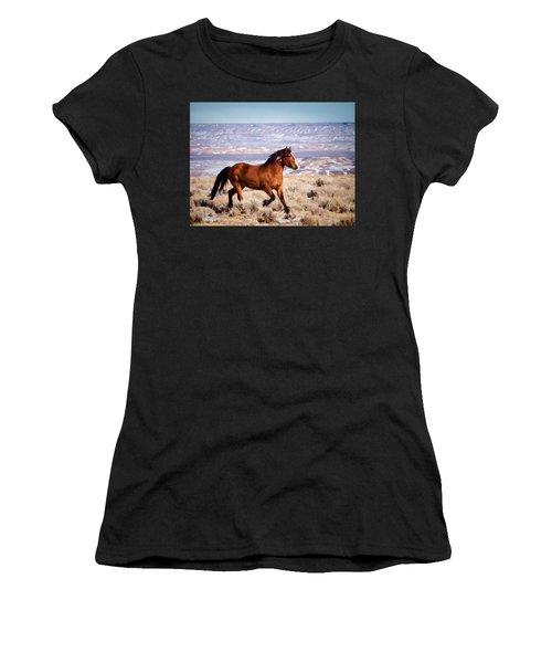 Eagle - Wild Horse Stallion Women's T-Shirt (Athletic Fit)