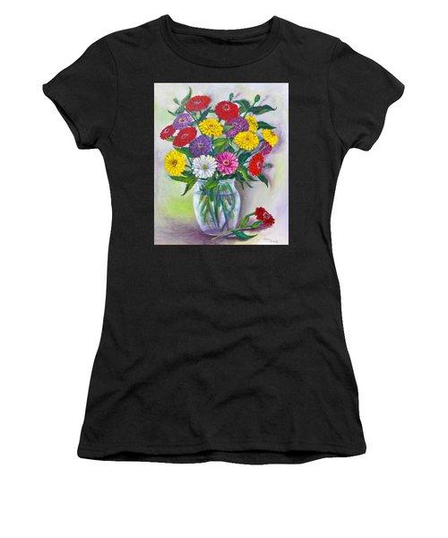 Old Fashioned Zinnias Women's T-Shirt