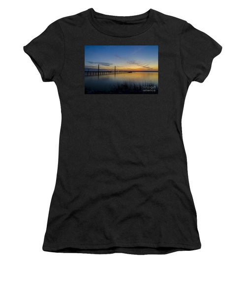 Women's T-Shirt (Junior Cut) featuring the photograph Peacefull Hues Of Orange And Yellow  by Dale Powell