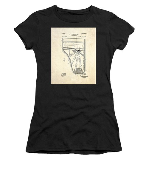 1885 Steinway Piano Frame Patent Art Women's T-Shirt (Athletic Fit)