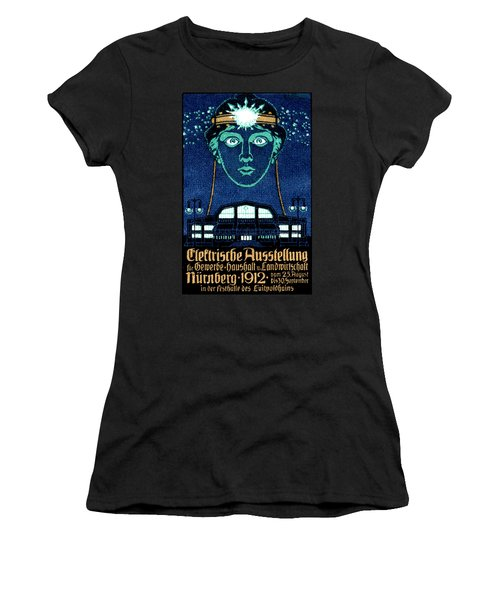 1912 Exposition Of Electricity Poster Women's T-Shirt