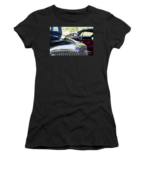 Women's T-Shirt (Junior Cut) featuring the photograph 1933 Ford Hood Ornament by Paul Mashburn