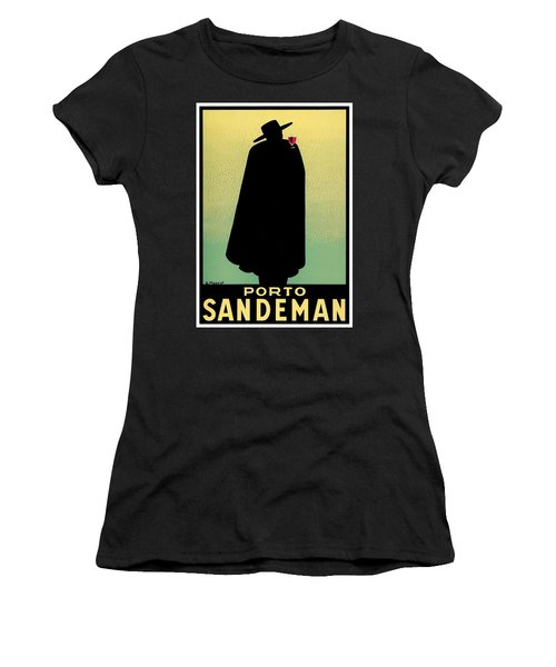 1938 - Porto Sandeman French Wines Advertisement Poster - Color Women's T-Shirt (Athletic Fit)