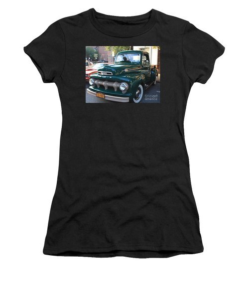 1952  Ford Pick Up Truck Front And Side View Women's T-Shirt (Athletic Fit)