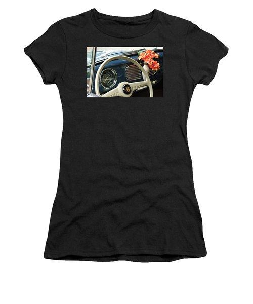 1952 Volkswagen Vw Bug Steering Wheel Women's T-Shirt