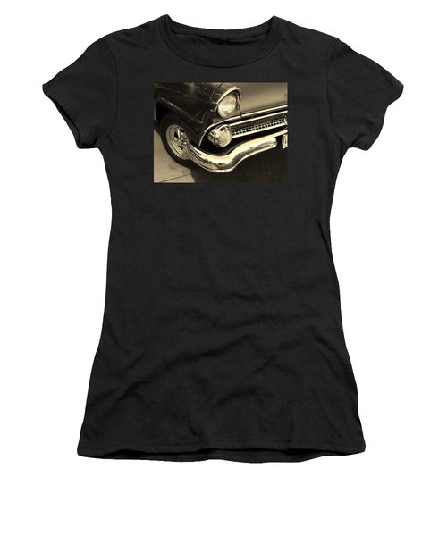 1955 Ford Crown Victoria Women's T-Shirt (Junior Cut) by Jean Goodwin Brooks