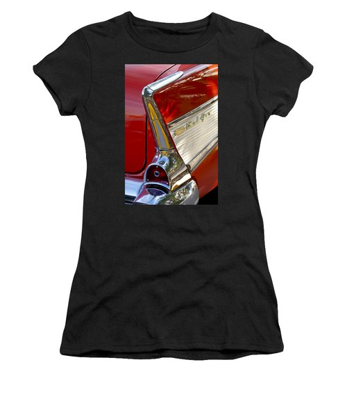 1957 Chevrolet Belair Taillight Women's T-Shirt (Athletic Fit)