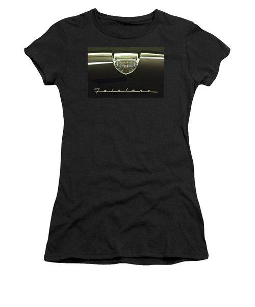 1958 Ford Fairlane 500 Victoria Hood Ornament Women's T-Shirt