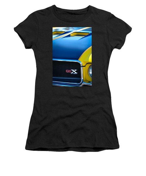 Women's T-Shirt featuring the photograph 1970 Buick Gsx Grille Emblem by Jill Reger