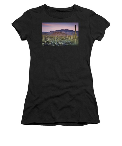 A Desert Sunset  Women's T-Shirt (Athletic Fit)