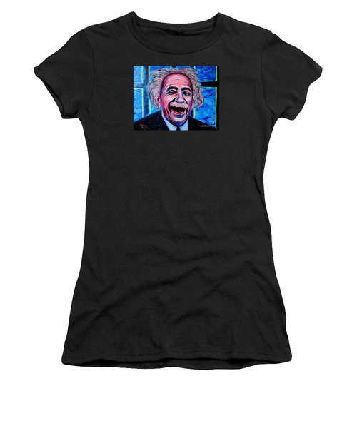 Albert Einstein Women's T-Shirt (Athletic Fit)