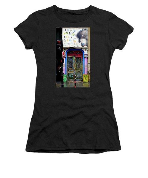 Artistic Door In Paris France Women's T-Shirt (Athletic Fit)