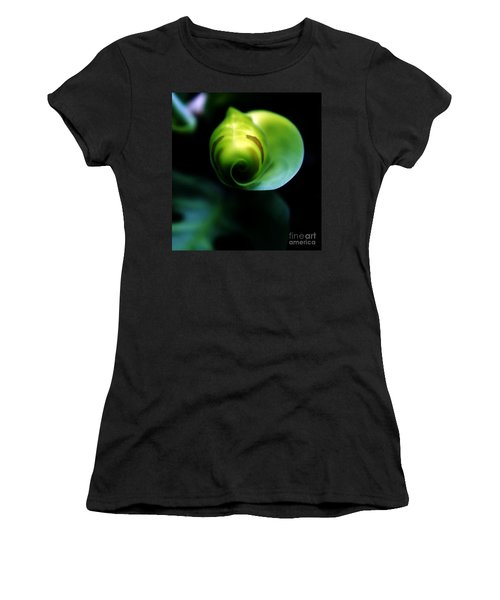 Women's T-Shirt (Junior Cut) featuring the photograph Birth Of A Leaf by Lilliana Mendez