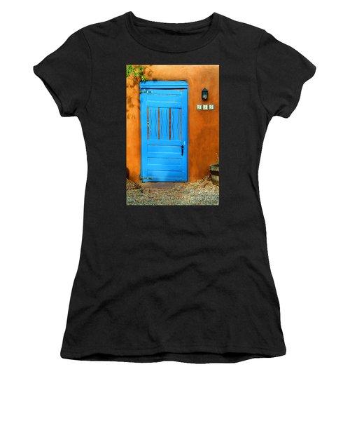 Blue Door In Santa Fe Women's T-Shirt