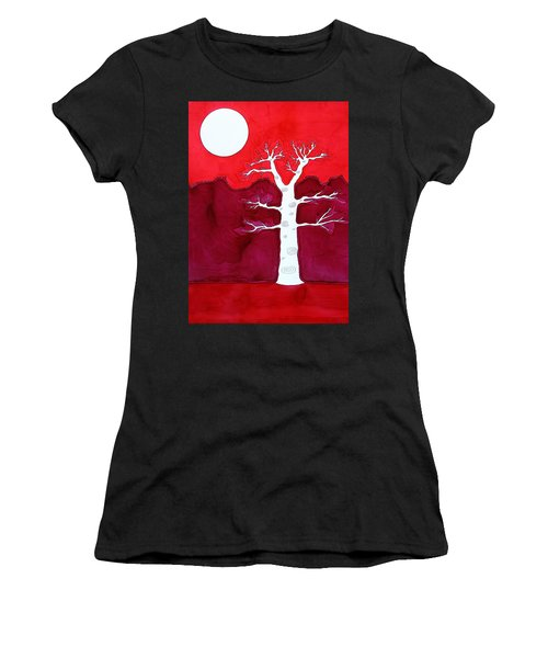 Canyon Tree Original Painting Women's T-Shirt (Athletic Fit)