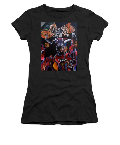 Women's T-Shirt (Junior Cut) featuring the painting Copernicasso by Ryan Demaree