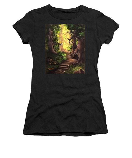 Druid Forest Women's T-Shirt (Athletic Fit)