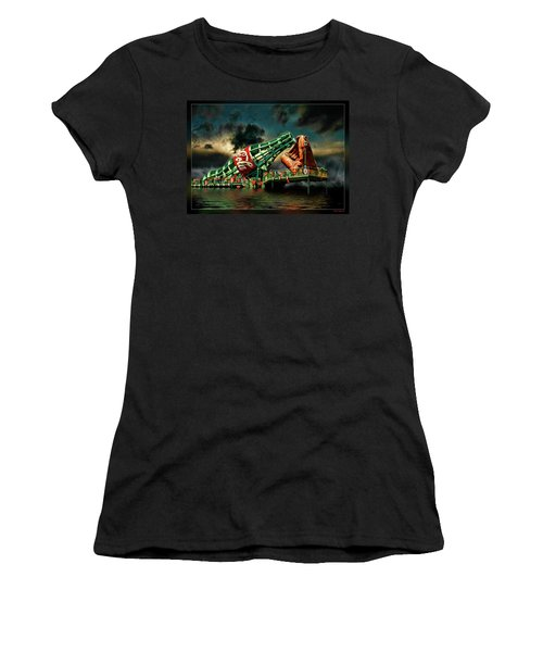 Floating Coke Bottle Women's T-Shirt (Athletic Fit)