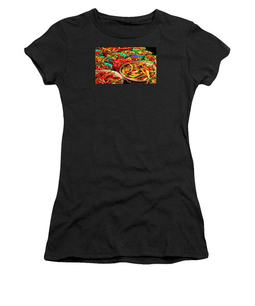 Healthy Chili Peppers Women's T-Shirt (Athletic Fit)