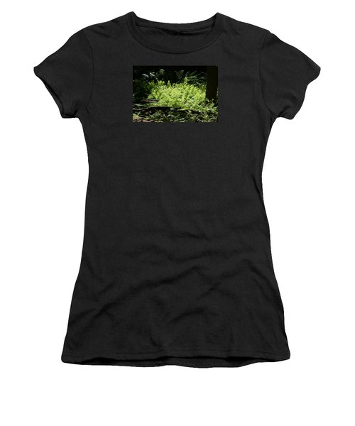 Women's T-Shirt (Junior Cut) featuring the photograph In The Woods by Heidi Poulin
