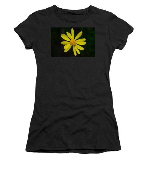 Women's T-Shirt (Junior Cut) featuring the photograph Isolated Daisy by Debra Martz