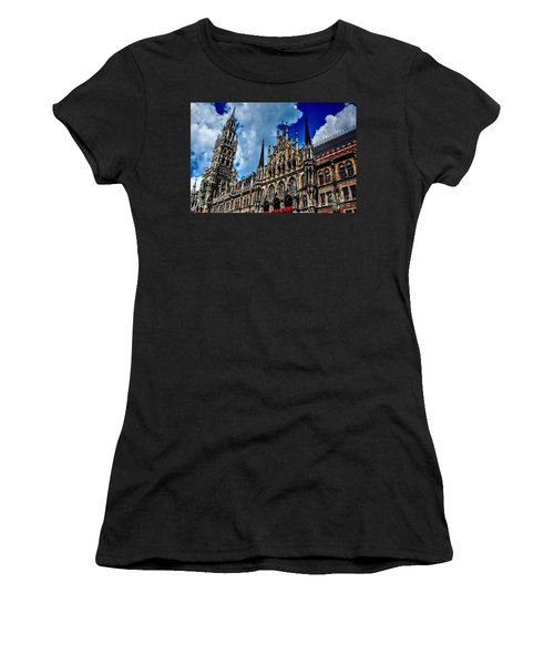 Women's T-Shirt (Junior Cut) featuring the photograph Marienplatz In Munich by Joe  Ng
