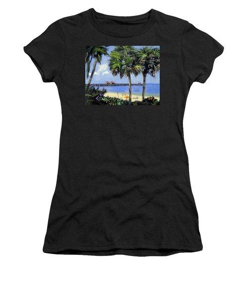 Naples Pier Naples Florida Women's T-Shirt