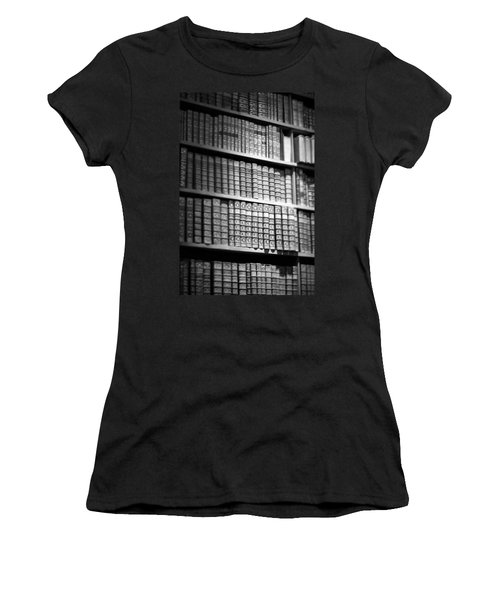 Women's T-Shirt (Junior Cut) featuring the photograph Old Books by Chevy Fleet