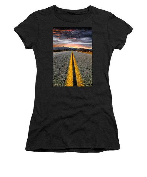 Women's T-Shirt (Junior Cut) featuring the photograph On Our Way  by Ryan Weddle