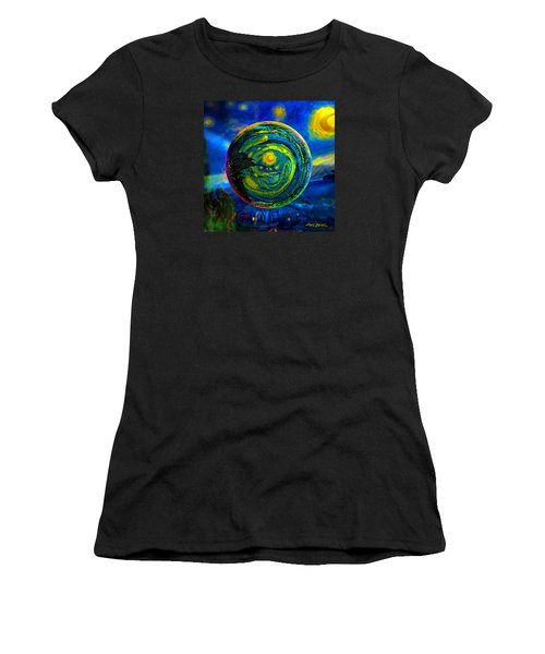 Orbiting A Starry Night  Women's T-Shirt