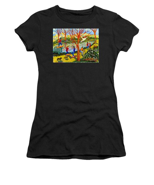 Skateboarders Women's T-Shirt (Athletic Fit)
