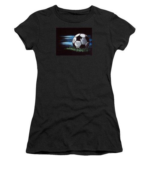 Soccer Ball Women's T-Shirt (Junior Cut) by Dani Abbott