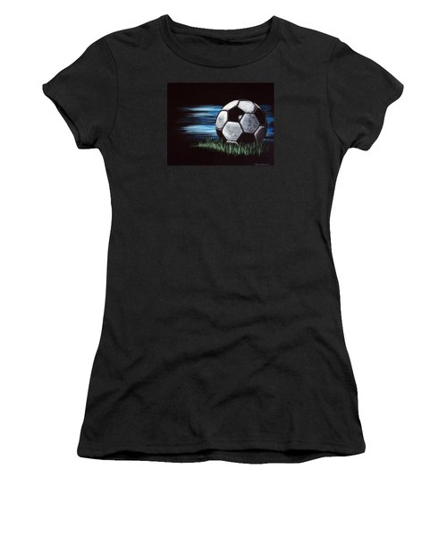 Soccer Ball Women's T-Shirt (Athletic Fit)