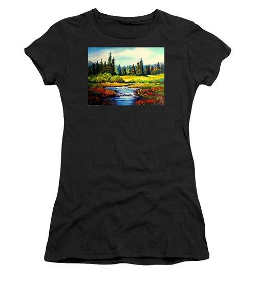Springtime Women's T-Shirt (Junior Cut) by Hazel Holland