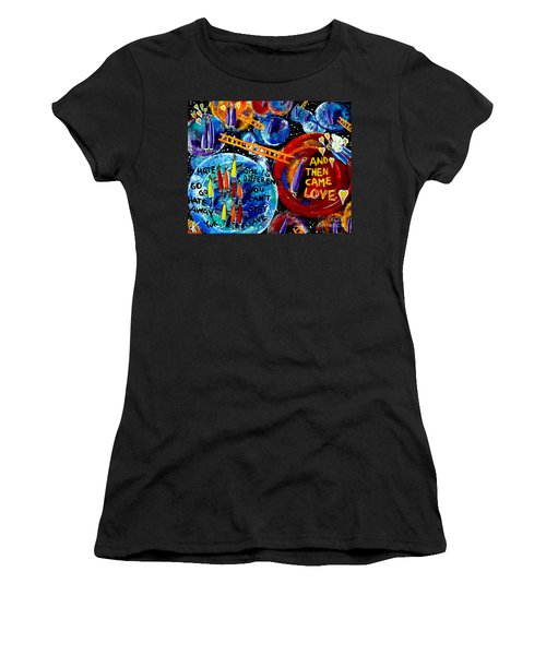 Women's T-Shirt (Junior Cut) featuring the painting Then Came Love by Jackie Carpenter
