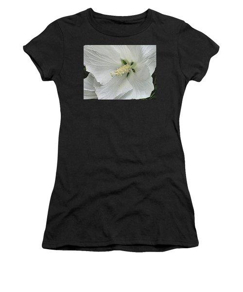White Hibiscus Women's T-Shirt