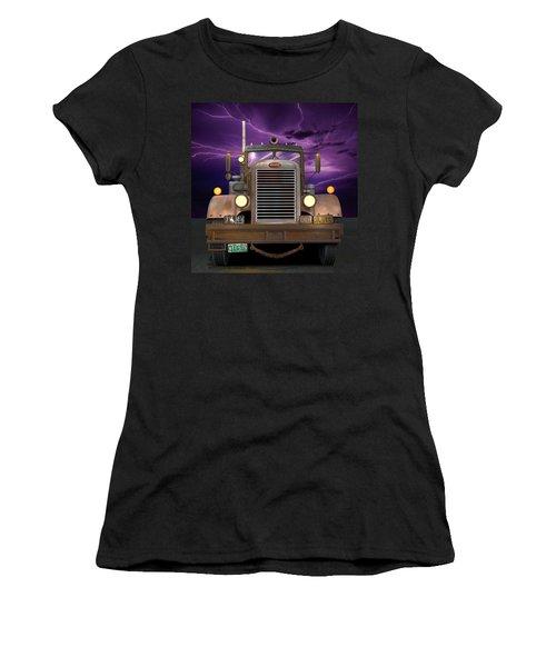 1955 Peterbilt Women's T-Shirt (Junior Cut) by Stuart Swartz