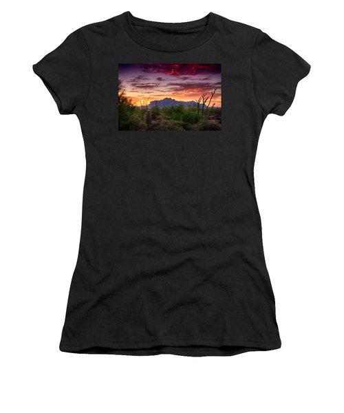 A Superstition Sunrise  Women's T-Shirt (Junior Cut) by Saija  Lehtonen
