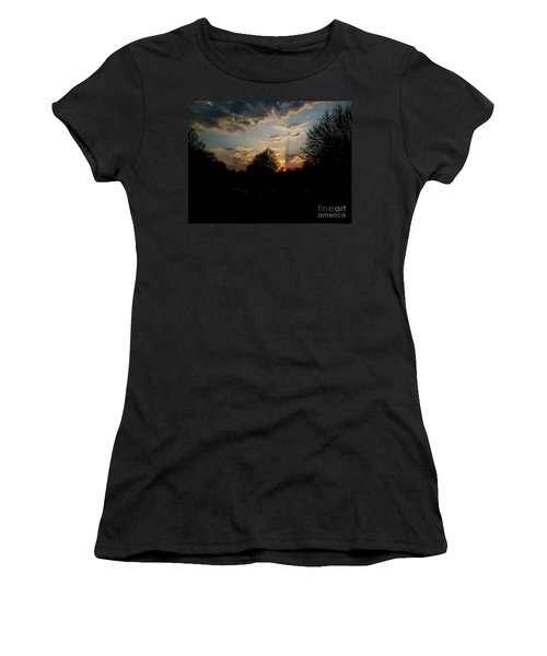 Women's T-Shirt (Junior Cut) featuring the photograph Beauty In The Sky by Kelly Awad