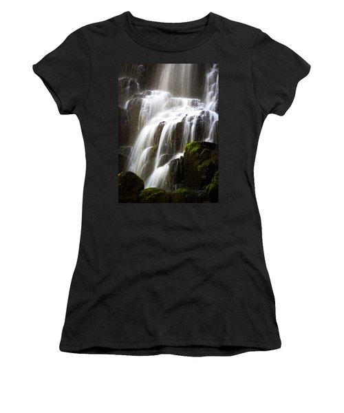 Fairy Falls Women's T-Shirt (Junior Cut) by Patricia Babbitt